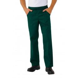 Pantalon de cuisinier couleurs polycoton taille elastique