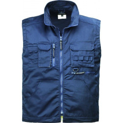 NAVY gilet de travail chaud polycoton multipoches