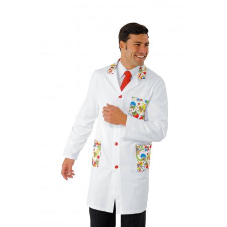 Blouse médicale homme spéciale pédiatrie SMILE