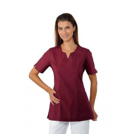 TIFFANY Tunique de travail femme colorée à manches courtes femme