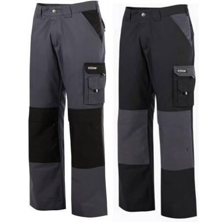 Pantalon de travail femme avec poches genoux en polycoton 300g  BOSTON