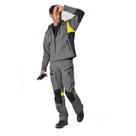 DYNAMIC FIT Pantalon de travail coton/polyester résistant et multipoches