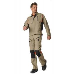 DYNAMIC FIT Pantalon de travail coton/polyester résistant et multipoches HASSON