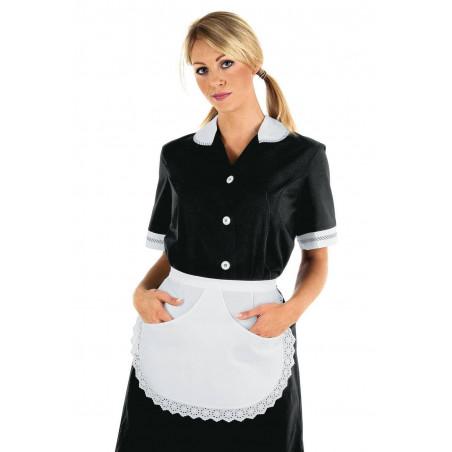 Tablier femme de chambre en dentelle avec poches ALMERIA