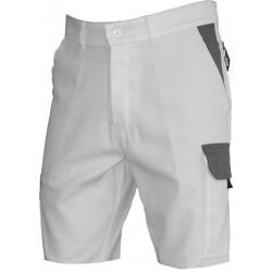 Short TYPHON blanc/gris sans métal