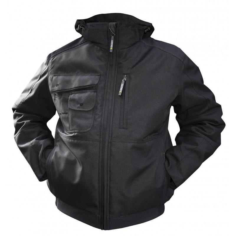 AUSTIN veste de travail polaire chaude canvas multipoches doublée matelassée avec capuche amovible