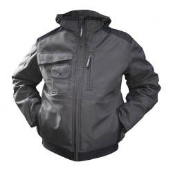 AUSTIN veste de travail HIVER chaude canvas multipoches doublée matelassée avec capuche amovible
