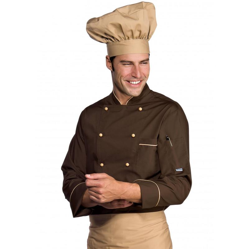 Veste de cuisine EXTRA LIGHT manches longues polycoton ISACCO