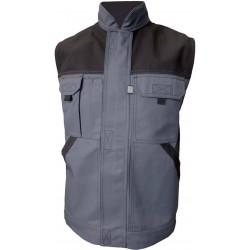 TYPHON gilet de travail coton/polyester multipoches gris/noir