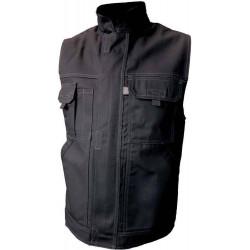 TYPHON gilet de travail coton/polyester multipoches noir
