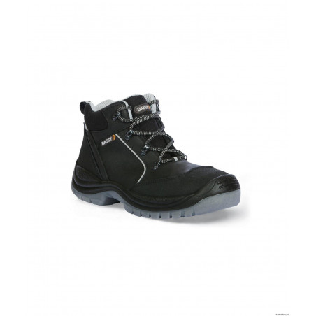 HERMES Chaussures de sécurité hautes en cuir noir DASSY
