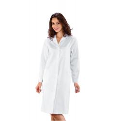 AMBURGO Blouse médicale femme manches longues 100% coton