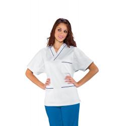 TUNIQUE MEDICALE MIXTE col V 100% Coton