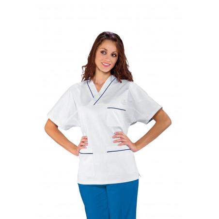 SACHA Tunique médicale mixte à col V en 100% Coton