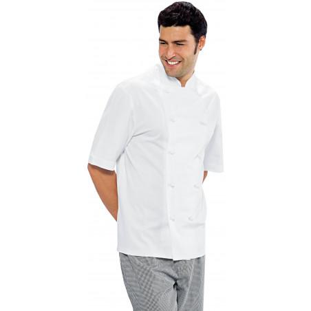 Veste de cuisine homme en coton à manches courtes ENRICA