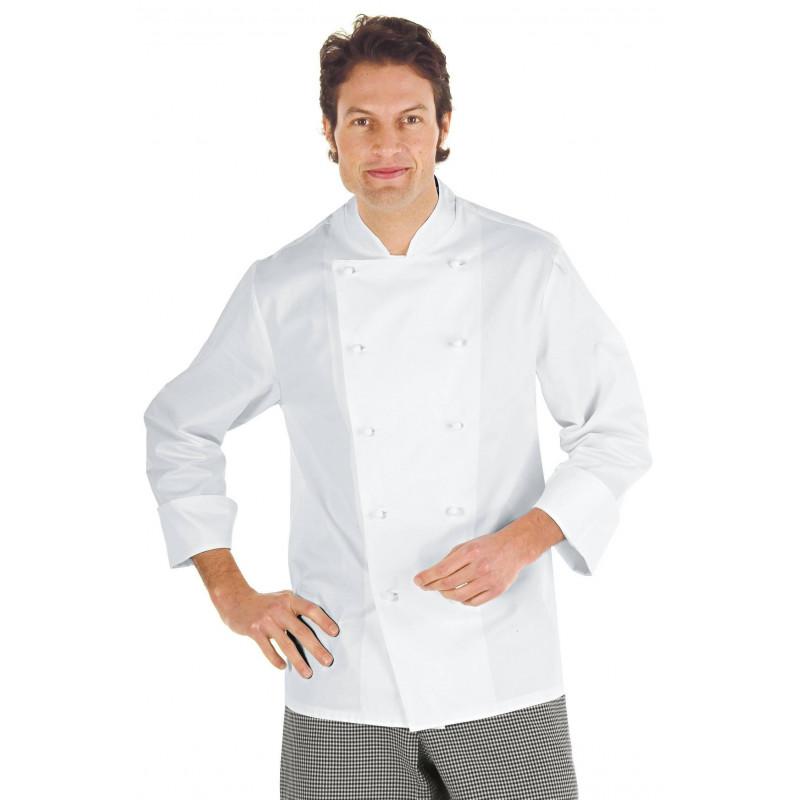 ENRICA Veste de chef manches courtes