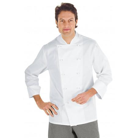 ENRICA Veste de chef cuisinier à manches longues