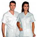 CANCUN Tunique médicale mixte en coton à pressions