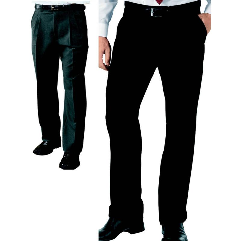 Pantalon de serveur UOMO 2 pinces en polyester