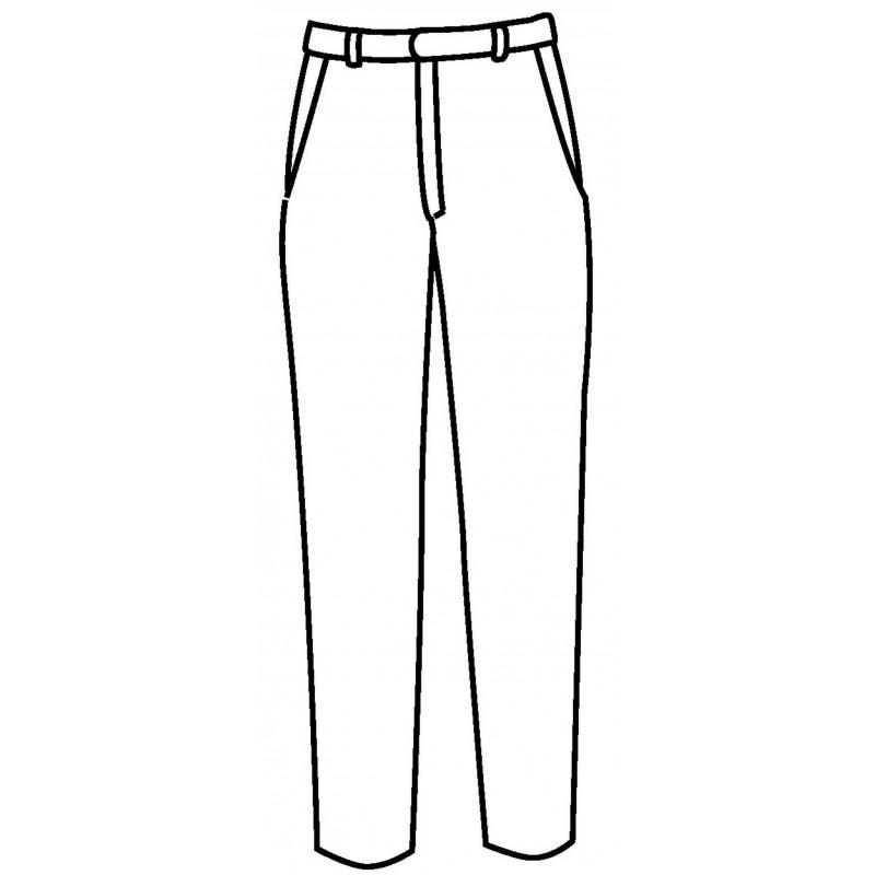 SUPER FRESH Pantalon de service sans pinces en polyester