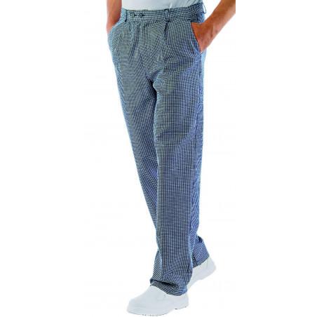 Pantalon de cuisine pied de poule en coton CUOCO
