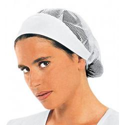 Calot femme blanc avec filet coton