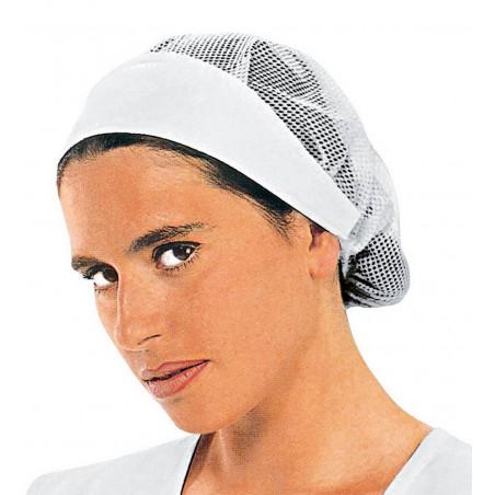 NORCIA Calot femme blanc avec filet coton