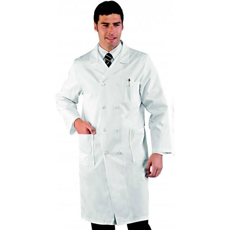 Blouse médicale homme en coton à double boutonnage DOPPIO