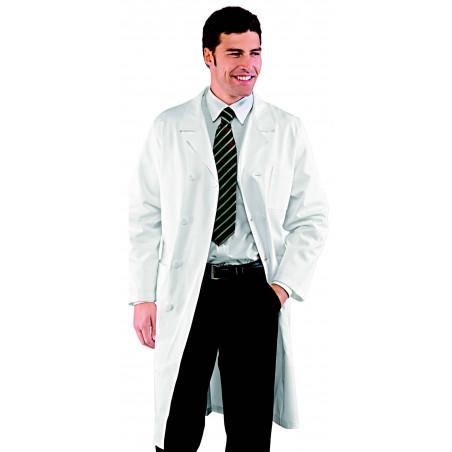 DOPPIO Blouse médicale homme en coton à double boutonnage