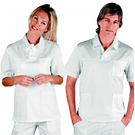 Tunique médicale mixte en coton POLO