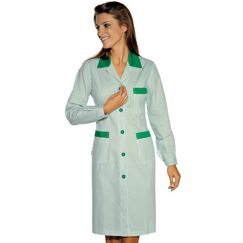 POSITANO Polycoton blouse de travail femme manches longues
