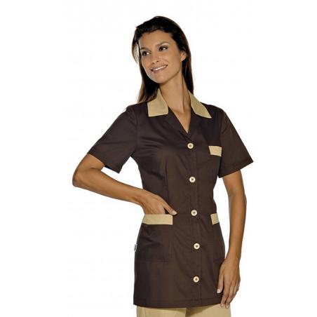 MARBELLA Tunique de travail femme légère manches courtes polycoton