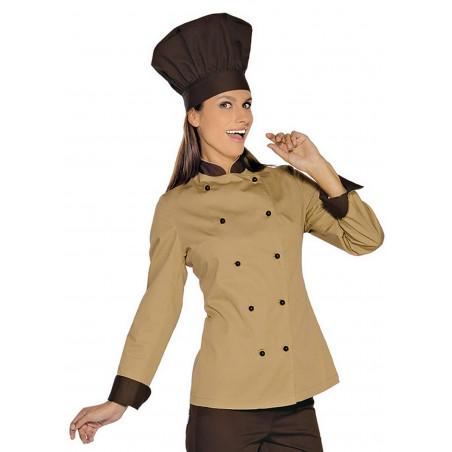 Veste de chef de cuisine femme manches longues LADY ROYAL