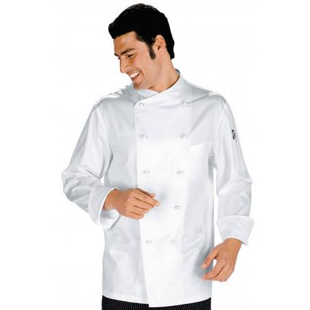 MONACO Veste de cuisine homme col asymétrique