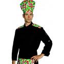 MALAGA Polycoton Veste de cuisine homme imprimée