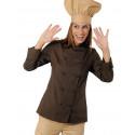 Veste de cuisine polycoton EXTRA LIGHT femme manches longues