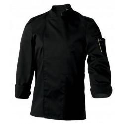 NERO MANCHES LONGUES Veste de cuisinier mixte noire ROBUR