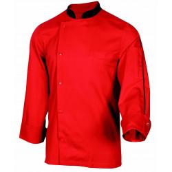 ORAGE Veste de cuisine mixte rouge ROBUR