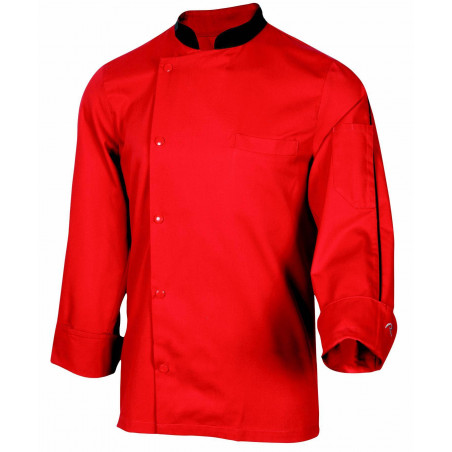 ORAGE Veste de chef de cuisine mixte rouge ROBUR