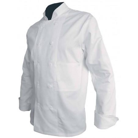 Veste de chef cuisinier coton à boutons