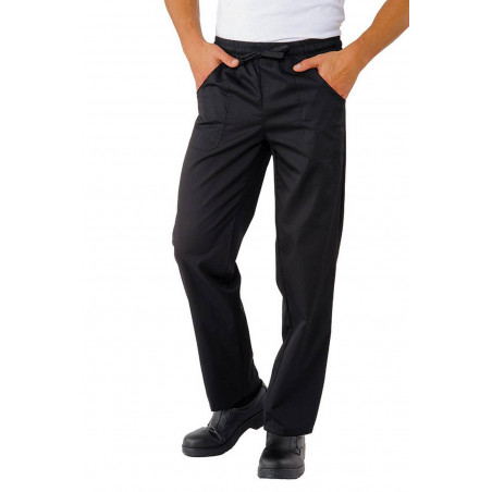 FREDO pantalon médical mixte noir avec taille élastique