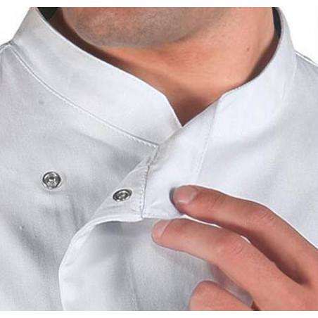 Veste de cuisine blanche à manches courtes en coton MADISON