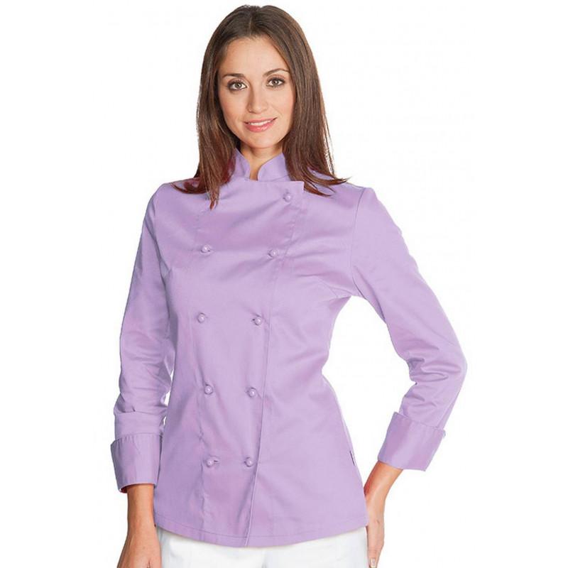 Veste de cuisine femme en coton à manches courtes ESTORIL