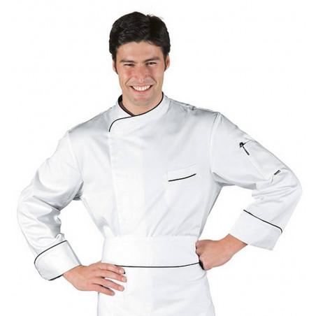 Veste de cuisinier en coton à manches courtes HAMILTON