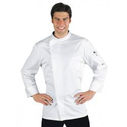 Veste de cuisine homme en satin à manches courtes VARSAVIA