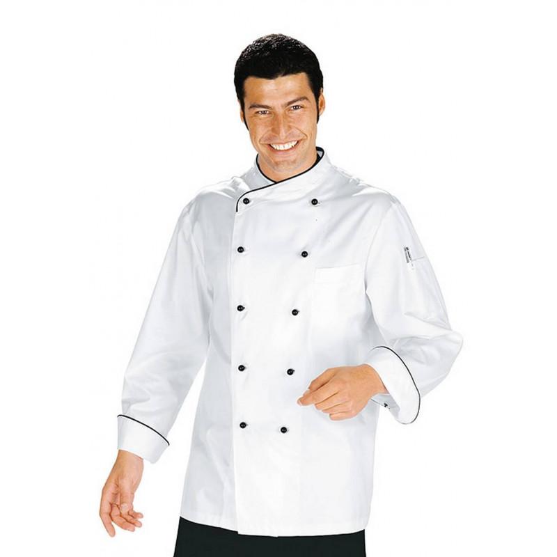 Veste de cuisine homme à manches courtes sans repassage CUOCO OSAKA