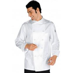 Veste de cuisinier homme manches courtes satin CUOCO TOKIO