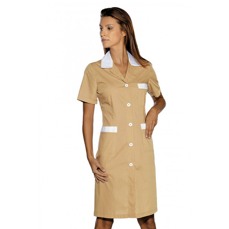 Blouse de travail femme colorée à manches courtes POSITANO COLOURS