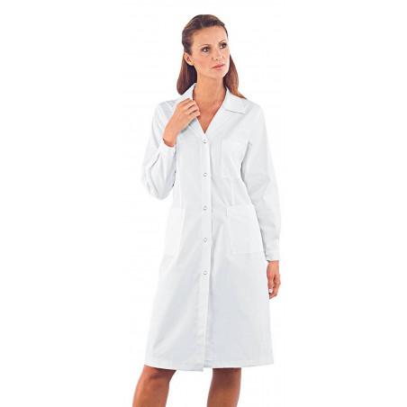 Blouse de travail femme anti-acide sulfurique à manches longues