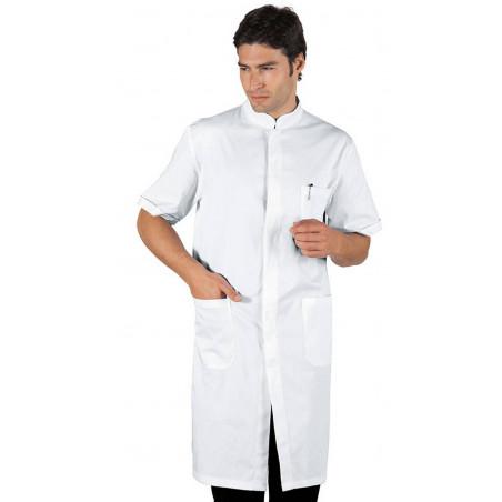 DAVEMPORT Blouse médicale homme en coton à boutons  manches courtes